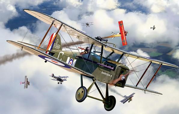 Wallpaper Fighter  Royal Aircraft Factory  Britsh S E 5a