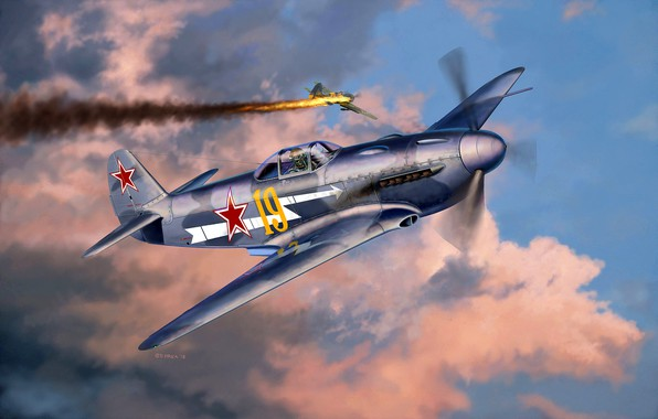 Picture Soviet fighter, The Yak-3, THE RED ARMY AIR FORCE, during the Second World war, 1x20 …