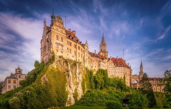 Picture the sky, rock, castle, Germany, Germany, Baden-Württemberg, Baden-Württemberg, Sigmaringen Castle, Sigmaringen, Sigmaringen, Sigmaringen Castle