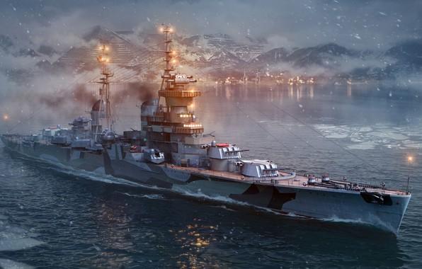 Picture World of Warships, Cruiser D. 68-bis Mikhail Kutuzov, Artillery cruiser, Light cruiser