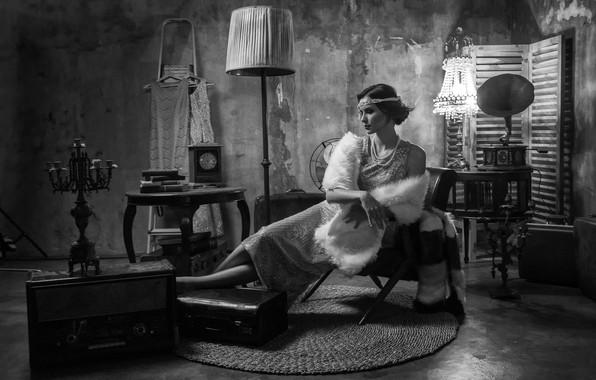 Picture girl, room, interior, girl, room, interior, Antonyus Bunjamin (Abe)