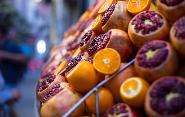 Picture oranges, fruit, Istanbul, Turkey, grenades