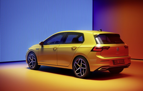 Picture Volkswagen, rear view, hatchback, Golf, hatchback, R-Line, 2020