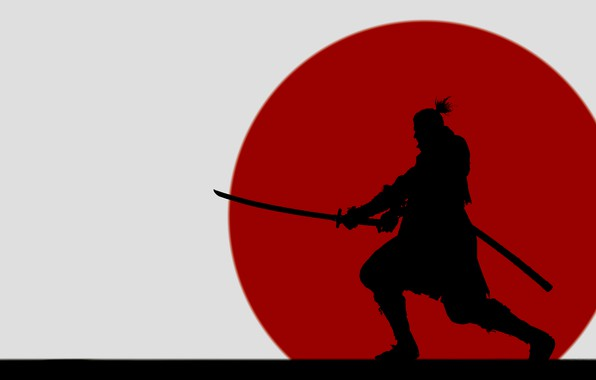 Picture the game, silhouette, SAMURAI JACK