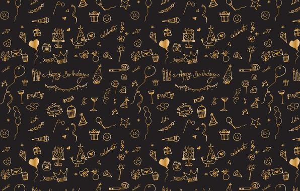 Picture background, black, texture, design, pattern, Celebration
