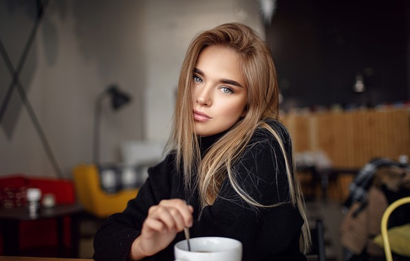 Picture look, girl, long hair, Sergey Sorokin, Luba Ivanova