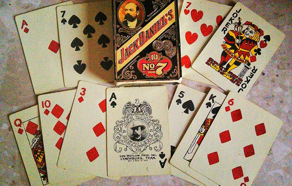 Picture card, retro, Jack Daniels