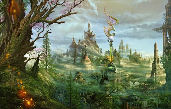 Picture landscape, fantasy, beauty