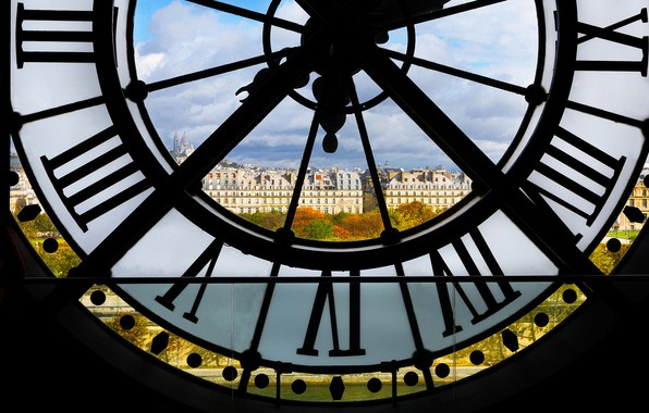 Picture France, Paris, home, the view from the Big clock of Orsay Museum