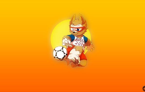 Picture The ball, Sport, Football, Wolf, Russia, Art, 2018, FIFA, FIFA, World Cup 2018, Mascot, Zabijaka, ...