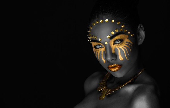 Picture eyes, look, girl, decoration, face, style, portrait, treatment, makeup, mask, button, lips, black, image, mulatto, …