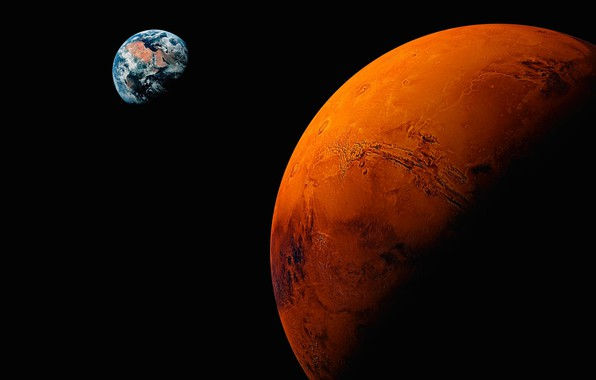 Picture space, earth, planet, Mars, the red planet