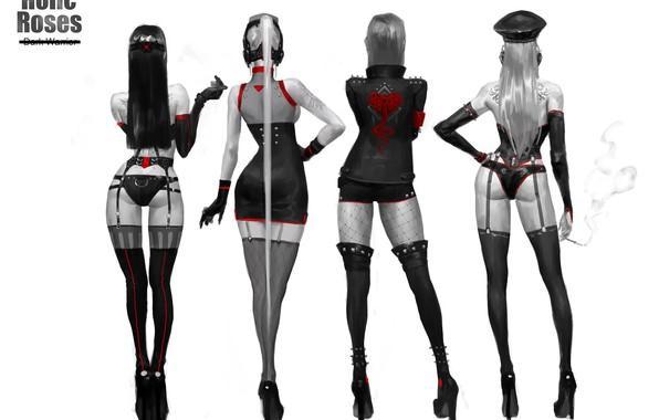 Picture Girls, Stockings, Feet, Heels, Tattoo, Legs, Art, Art, Girls, Garter, Heels, Tattoo, Back, Cigarette, Stockings, …
