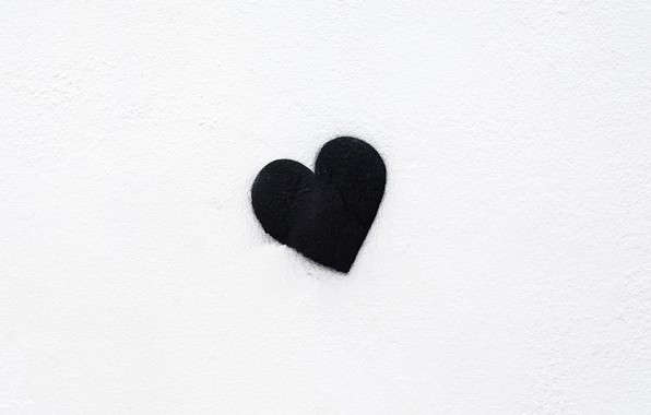 Picture background, black, heart, minimalism, black, minimalism, heart, background