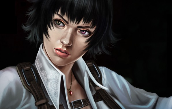 Photo wallpaper art, anime, lady, devil may cry