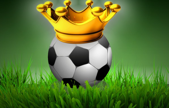 Picture field, crown, soccer ball