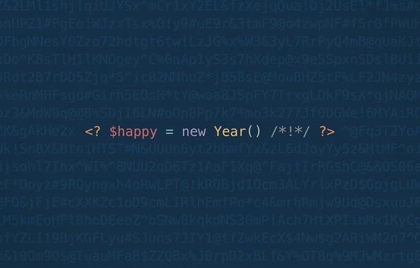 Picture minimalism, code, geek, happy new year, happy new yaer, programming, programing, codding, github