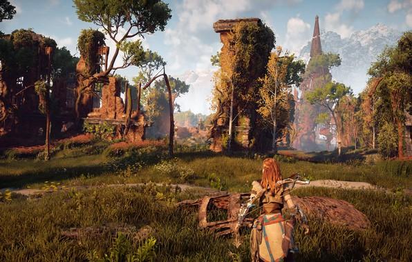 Picture ruins, exclusive, Playstation 4, Guerrilla Games, Horizon Zero Dawn, Eloy