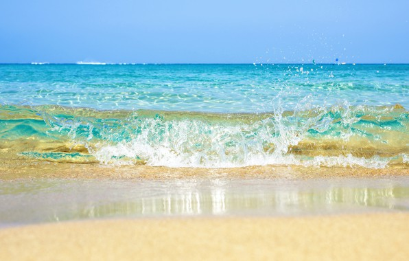 Picture sand, sea, wave, beach, summer, summer, beach, sea, ocean, blue, seascape, sand, wave