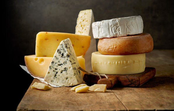 Picture variety, forms, cheeses, types
