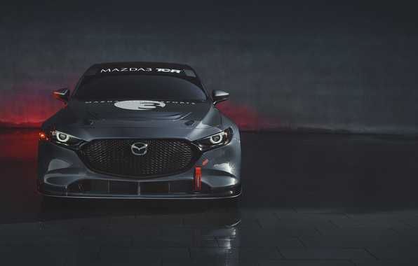 Picture Mazda, front view, Mazda 3, 2020, TCR