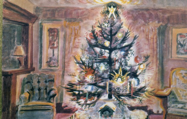 Picture 1952, Charles Ephraim Burchfield, The Glow of Christmas