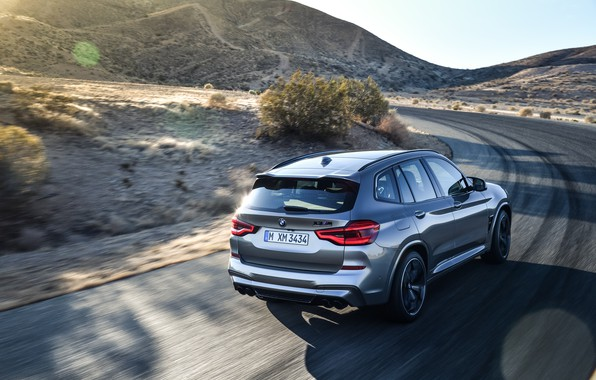 Picture machine, movement, hills, BMW, lights, crossover, Competition, X3M, F97