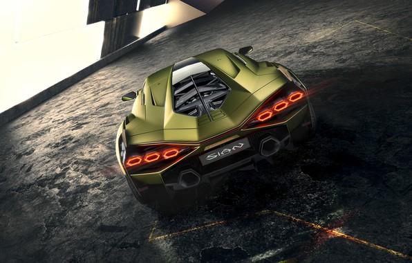 Picture Lamborghini, supercar, hybrid, Later