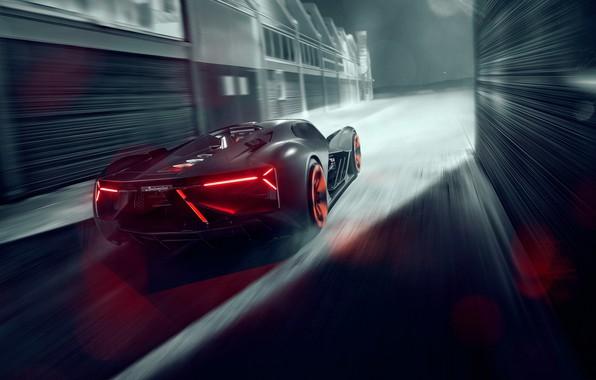 Picture Lamborghini, supercar, electric, The Third Millennium
