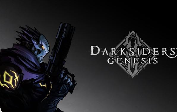 Picture gun, weapons, Strife, horseman of the Apocalypse, Nephilim, Discord, hourseman of the apocalypse, Darksiders: Genesis