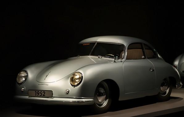 Picture machine, retro, background, Porsche 1952