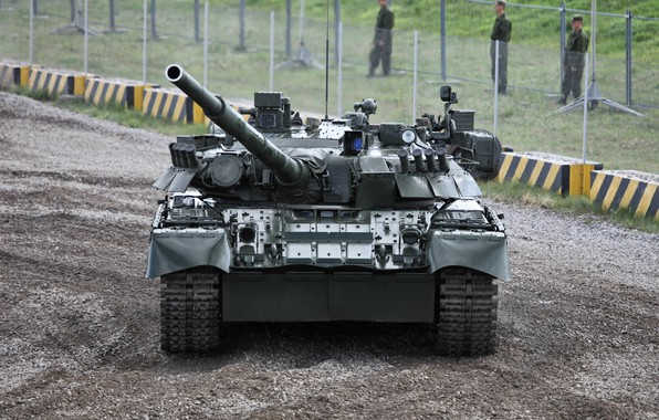 Picture tank, polygon, MBT, T-80U, armored vehicles of Russia