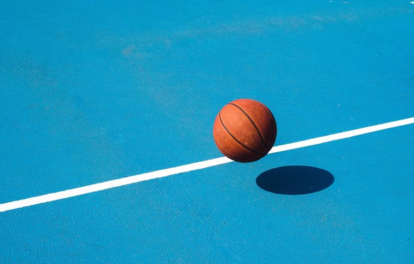 Picture the ball, minimalism, basketball, Playground, basketball