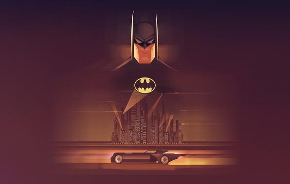 Picture Minimalism, Art, Batman, DC Comics, madeinkipish, DC Art, by David Oyola, David Oyola