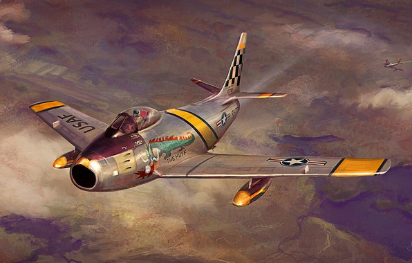 Picture F-86F, F-86 Sabre, external fuel tank, ''The Huff''