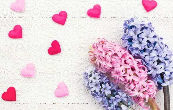 Picture love, flowers, heart, bouquet, hearts, love, pink, heart, pink, flowers, beautiful, romantic, valentine's day, spring, …