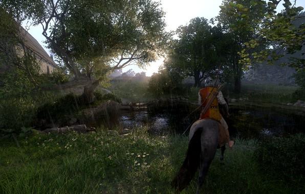 Picture field, forest, landscape, horse, armor, Czech Republic, Kingdom Come Deliverance, the middle ages, Kingdom Come