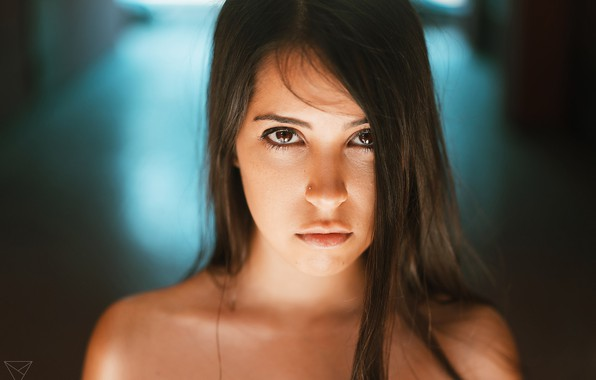 Picture look, girl, face, hair, portrait, Dmitry Alexandrov