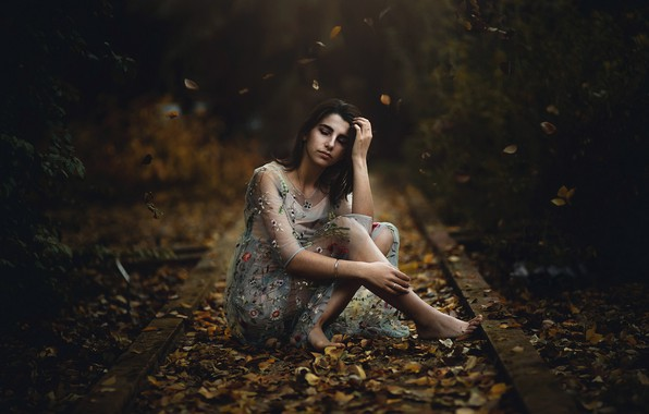 Picture autumn, girl, Maria Nita Vlad
