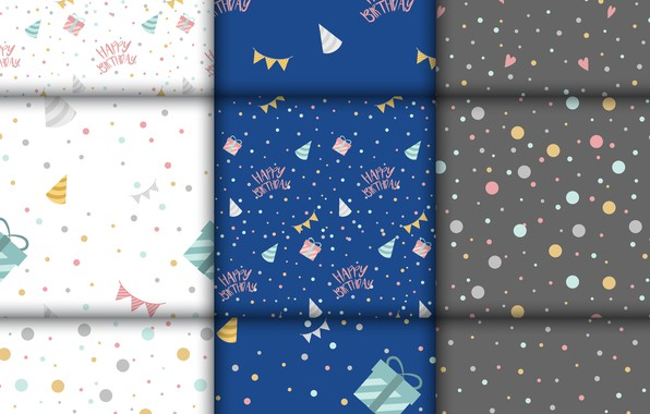 Picture white, blue, background, gifts, Background, Pattern