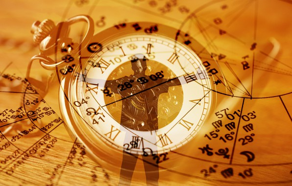 Picture watch, silhouette, astrology