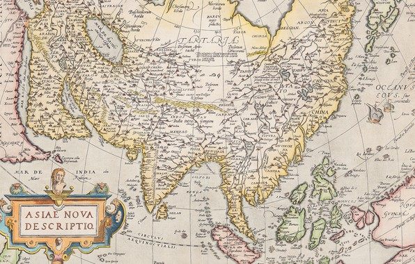 Picture Asia, Atlas, old maps, old maps, Abraham Ortelius, Theatre Of The World, Antwerp 1574-1612, Asia …
