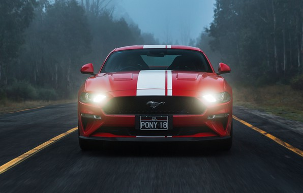 Picture Ford, front view, Fastback, 2018, Mustang GT