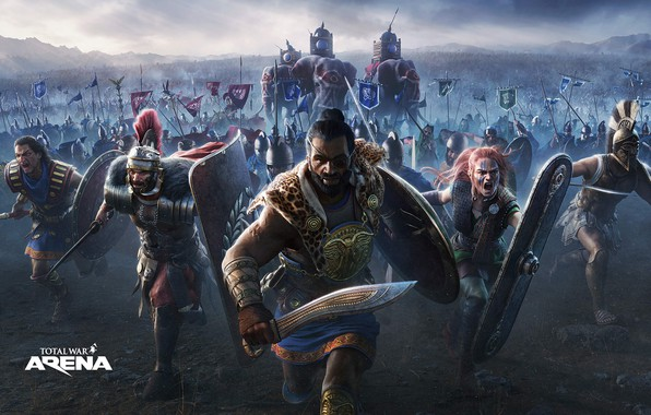 Picture elephants, army, total war, attack, Hannibal, Leonidas, Total War Arena, armies, Boudica, (B, Hasdrubal