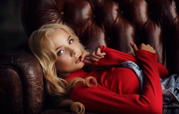 Picture look, Girl, blonde, lies, Dmitry Arhar, Katerina Shiryaeva