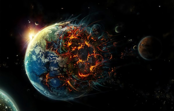 Picture Planet, Earth, Apocalypse, The End Of The World, Destruction