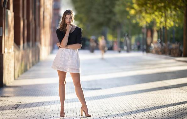 Picture girl, street, Tiffanie
