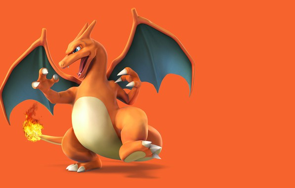 Picture background, fire, dragon, fire, dragon, pokemon, pokemon, charizard, Charizard