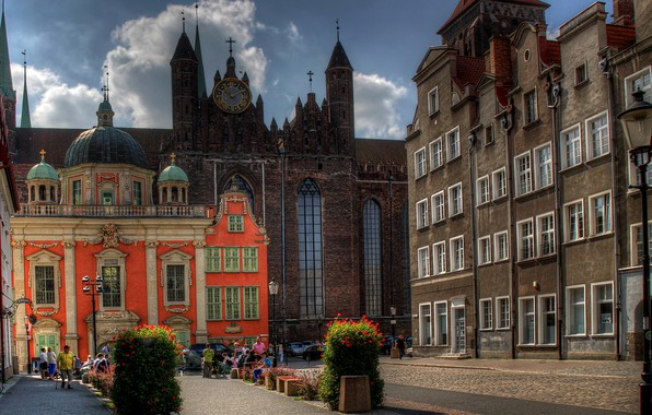 Picture street, home, Poland, Gdansk
