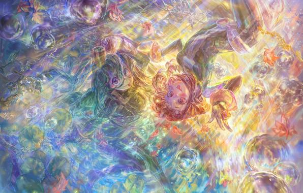 Picture anime, art, My Hero Academia, (王晖) Melissa Hui Wang, Tsuyu + Ochaco